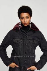 Утепленная джинсовая куртка Mango, размер ХС-С-М