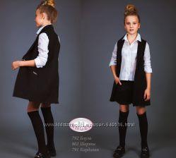 Удлиненный жилет для девочки