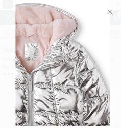 Куртка на девочку 9-12 лет, в серебреОсень-зима.