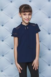 Красивая школьная блузка, размер 152, б/у.