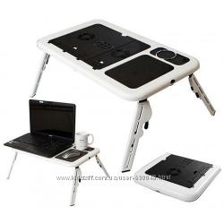 Подставка, столик для ноутбука с двумя кулерами
