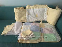 бортик, защита для детской кроватки, балдахин