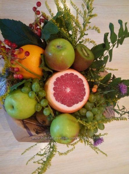 Букеты из фруктов - самый оригинальный подарок запись перед выпускным