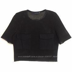 Кроп топ футболка сетка Zara тренд сезона
