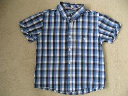 Хлопковая летняя рубашка Marks&Spencer 7л 122см