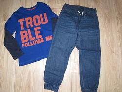 Реглан и джинсы НМ 5-6лет 112-116-120см