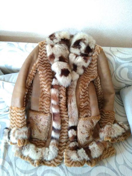 Продам дубленку, натуральная овчина Турция, воротник песец