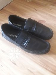 Туфли кожаные Ferari real rebel для мальчика для школы.