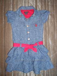 Продам стильное джинсовое платья для девочки U. S. Polo Assn.