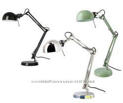 В наличии настольная лампа рабочая forsa форса разн. цвета Икеа Икея Ikea