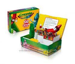 Crayola 120 цветных восковых карандашей с точилкой