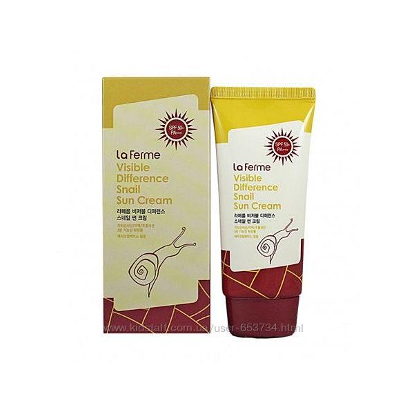 Солнцезащитные кремы FarmStay Snail Sun Cream spf 50