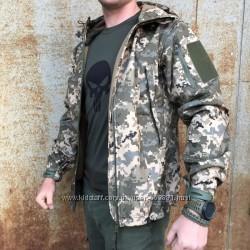 Тактическая куртка Soft Shell Пиксель ЗСУ