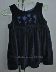 Бархатное нарядное платье The Childrens Place на 12 месяцев