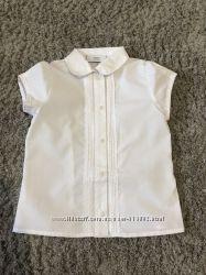 Нарядная блузка Next  р 10, 11, 12, 13 белая и голубая