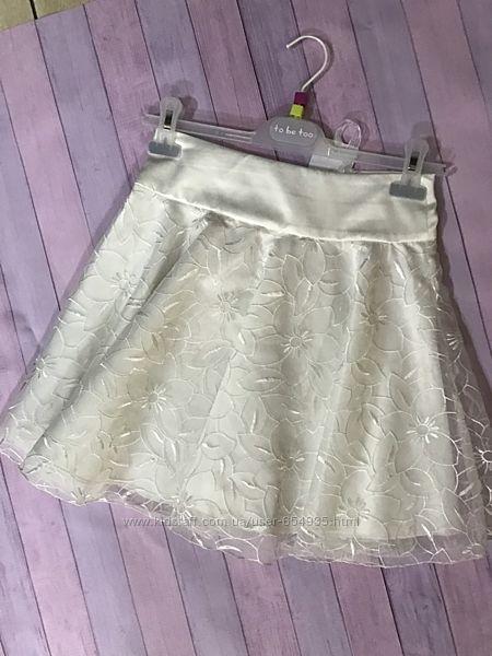 Белая юбочка для девочки 8-9 лет. Италия