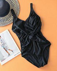 Сдельный чёрный купальник с утяжкой, бренд, М, Л-ХЛ,14