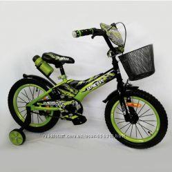 Детский велосипед Велосипед Racer-16 дюймов Зеленый