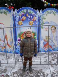 Курточка-парка зимняя Next, р. 116, в отличном состоянии и краги