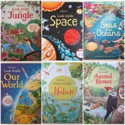 Usborne Look inside. Детские книги на английском с окошками