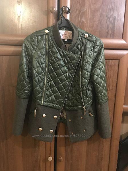 Куртка-пальто цвета хаки