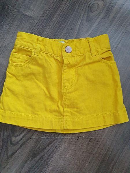 Фирменная джинсовая юбка 12-18 мес.