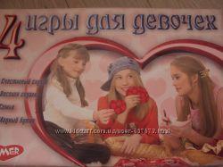 настольная игра4 игры для девочек