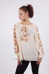 Блуза с вышивкой ивори