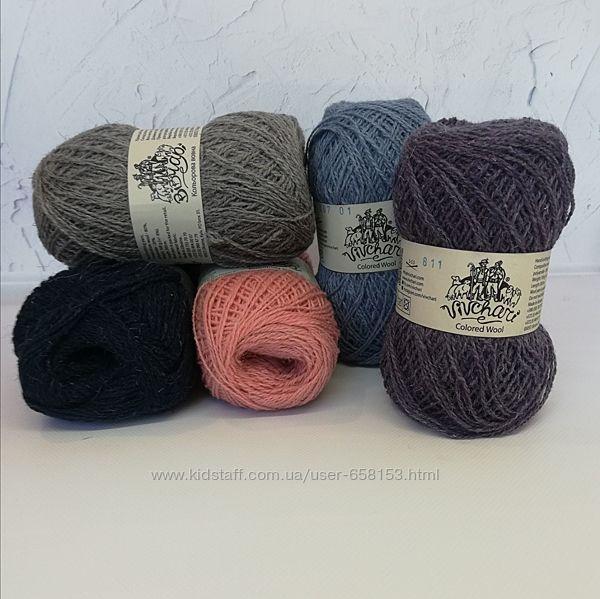 Пряжа ТМ VIVCHARI Colored wool