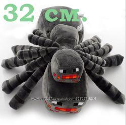 Мягкая игрушка 32 см большой Паук Гигант Майнкрафт minecraft Spider