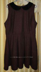 Платье с бархатным воротником 18 UK наш 48-50 Primark Atmosphere есть возвр