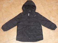 Куртка курточка парка черная еврозима теплая зима