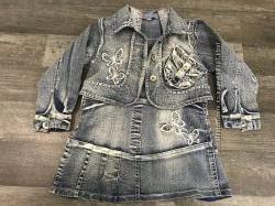 Костюм джинсовый сарафан и куртка болеро