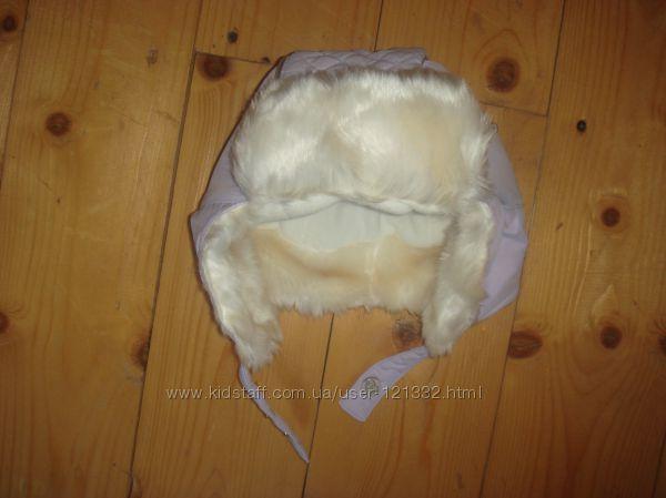 Зимняя шапка ушанка Chicco