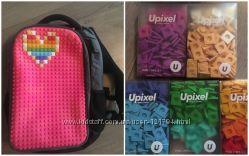 Рюкзак Upixel Maxi черный-фуксия и 5 коробочек пикселей