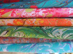 Авторские платки в стиле эбру. Эбру-платок