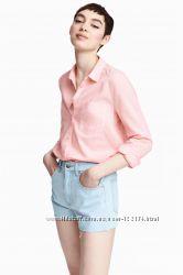 Блузка рубашечного кроя, рубашка женская  H&M   Англия.  Размер 12.