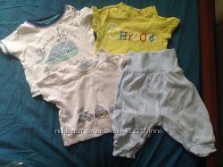 Пакет набор футболок 3-9 месяцев