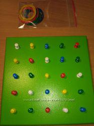 Досточка Монтессори, геоборд, математ. или геометрический планшет, геометри