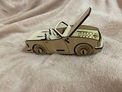 Детский деревянный конструктор. Кабриолет. Механические 3d-пазлы