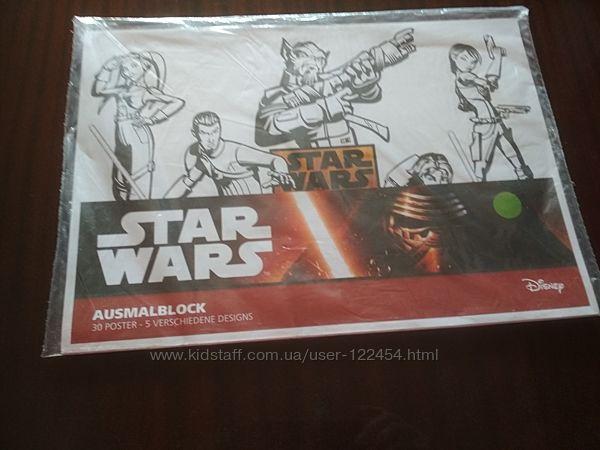Раскраска STAR WARS  Зоряны войны шарф флисовый STAR WARS
