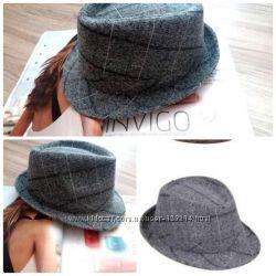 Новая женская шляпа серого цвета