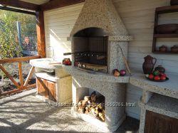 Камины-барбекю для дачи, дома