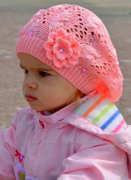 Вязание шапочек на девочек на весну