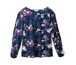 Яркая блуза с цветочным принтом от ТСМ Tchibo Германия, р. 50-52