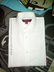 Школьная рубашка для мальчика белая 1 сентября 10 -13 лет