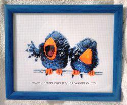 Картина, вышитая крестиком Про птиц-1