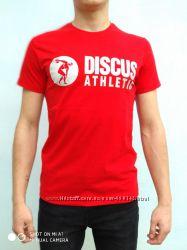 Мужская футболка с принтом спорт красный размер 46, 48