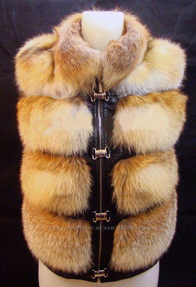 Сшить жилет из меха лисы своими руками 83