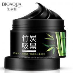 Глубоко очищающая маска с бамбуковым углем BIOAQUA Bamboo Charcoal Mask